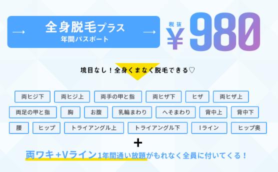 ミュゼの6月のキャンペーンは全身脱毛1回がたったの980円!